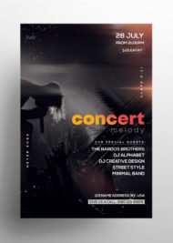 Free Concert Melody PSD Flyer Template