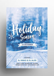 Holiday Season - Christmas Free PSD Flyer Template
