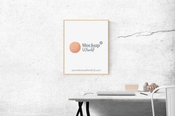 Minimal Poster Frame Free Mockup