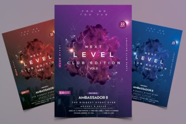 Next Level - Futuristic PSD Flyer