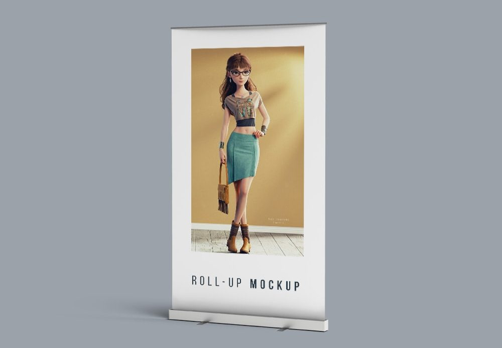 Roll-Up Banner Free Mockup