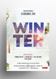 Winter Season - Free PSD Flyer Template