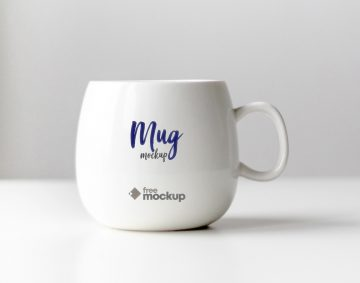 Ceramic Mug Free Mockup