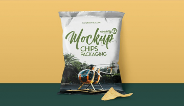 Realistic Chips Packaging Free Mockup