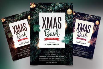 X-Mas Bash Premium PSD Flyer Template