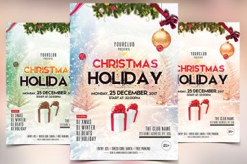 Christmas and Holidays Premium PSD Flyer