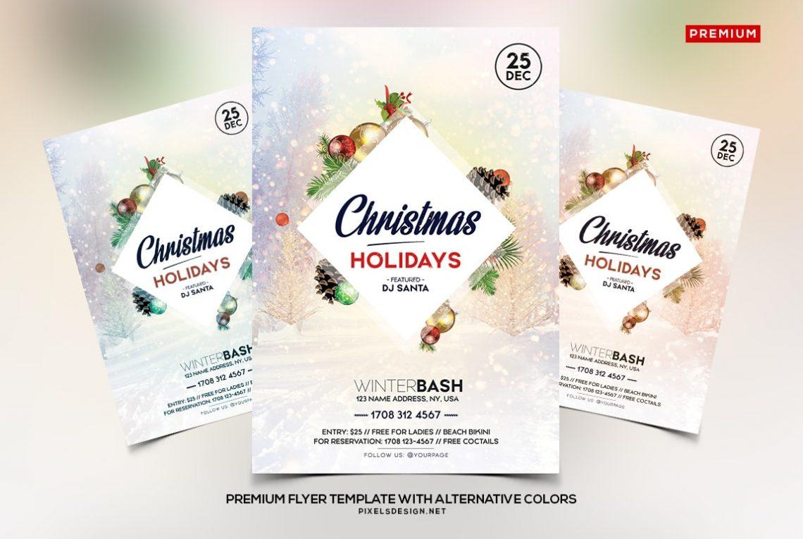 Christmas Holidays - PSD Flyer