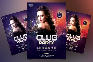 Club Party Premium DJ PSD Flyer Template