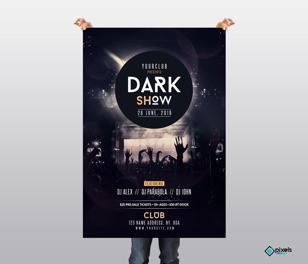 Dark Show - Free PSD Flyer Template