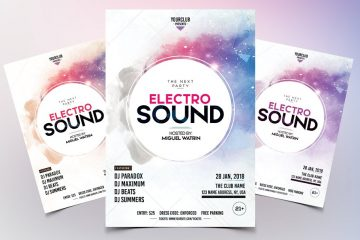 Electro Sound Premium Party PSD Flyer