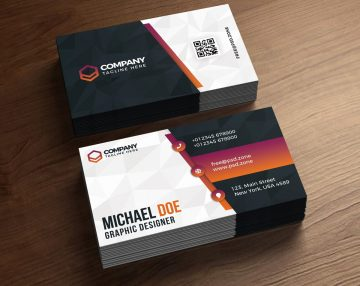 Corporate PSD Business Card Free Template