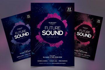 Futuristic Sound Premium PSD Flyer Template