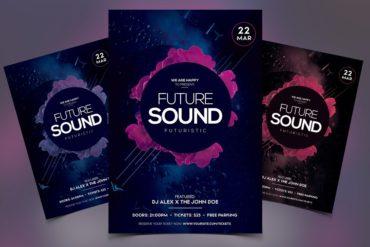Futuristic Sound PSD Flyer
