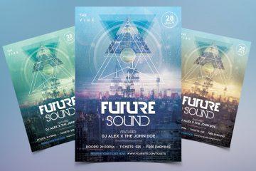 Future Sound - Geometric PSD Flyer Template