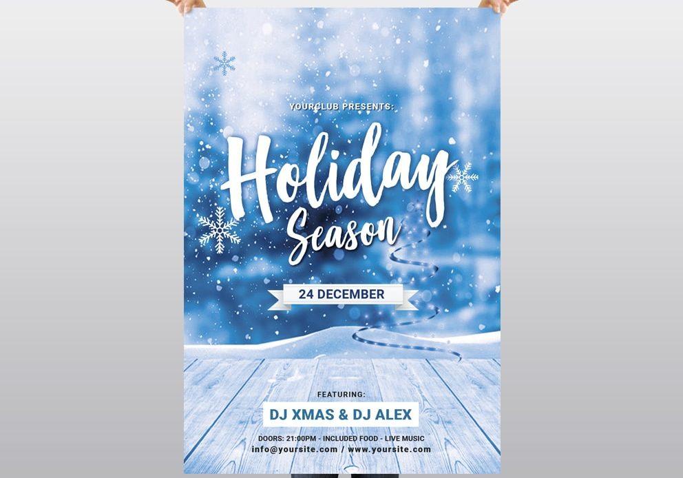 Holiday Season - Christmas Free PSD Flyer Template