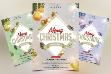 Merry Christmas Premium PSD Flyer Template