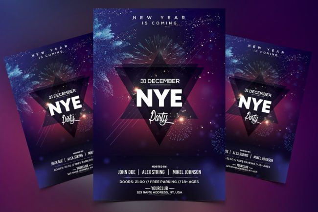 2022 New Year - Premium PSD Flyer Template