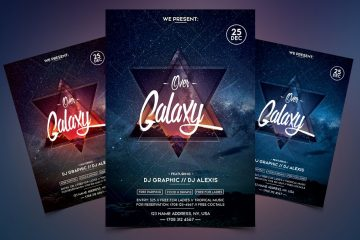 Over Galaxy Premium Event PSD Flyer