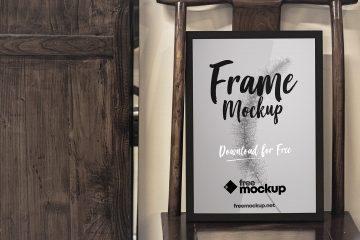 Poster Frame Free PSD Mockup