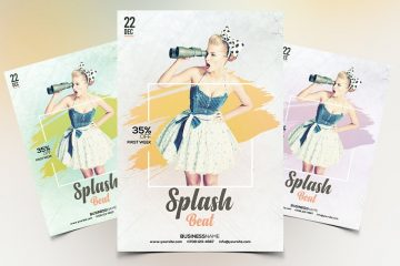 Splash Beat Premium PSD Flyer Template
