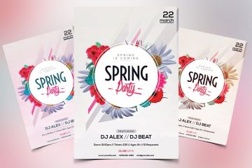 Spring Party Premium PSD Event Flyer