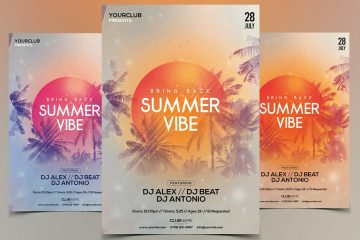 Summer Vibe Premium PSD Flyer Template