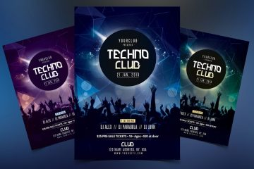 Techno Club Premium PSD Flyer