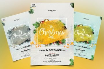 Christmas Invitation Premium PSD Template