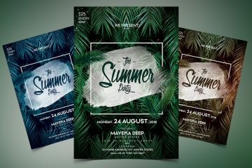 The Summer Party Premium PSD Event Flyer
