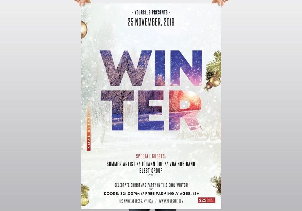 Winter Season - Free PSD Flyer Template