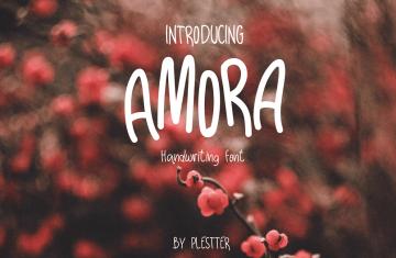 Amora Free Handwriting Font