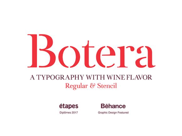 Botera Free Stencil Serif Font