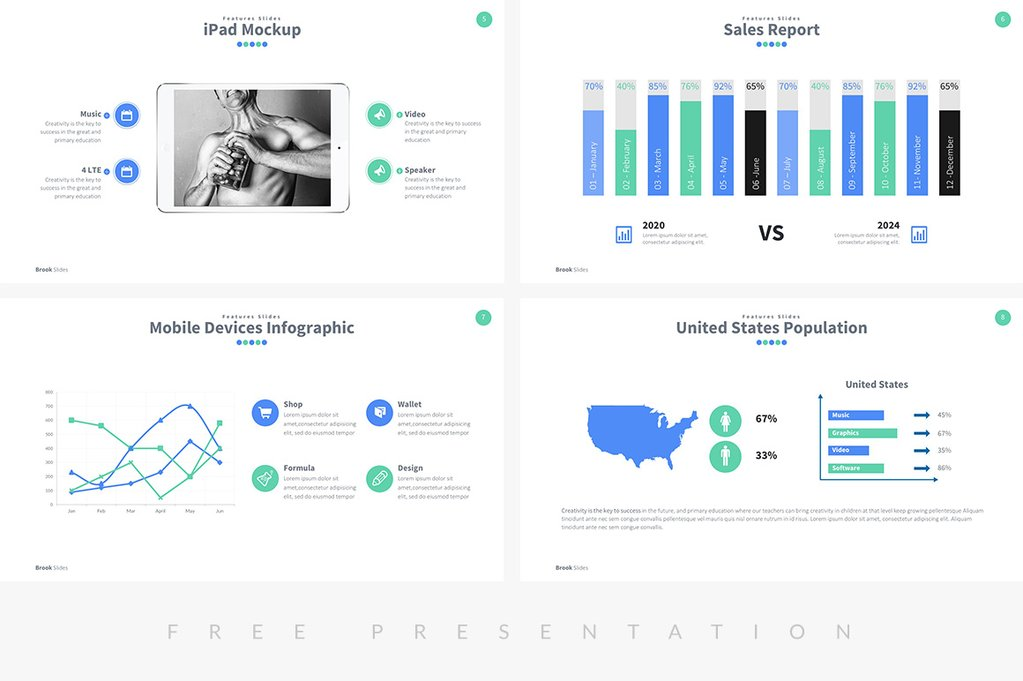 Brook Presentation Free Powerpoint Template