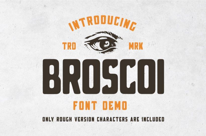 Broscoi – Free Vintage Font