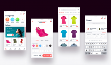 Free e-Commerce App UI Kit Kit