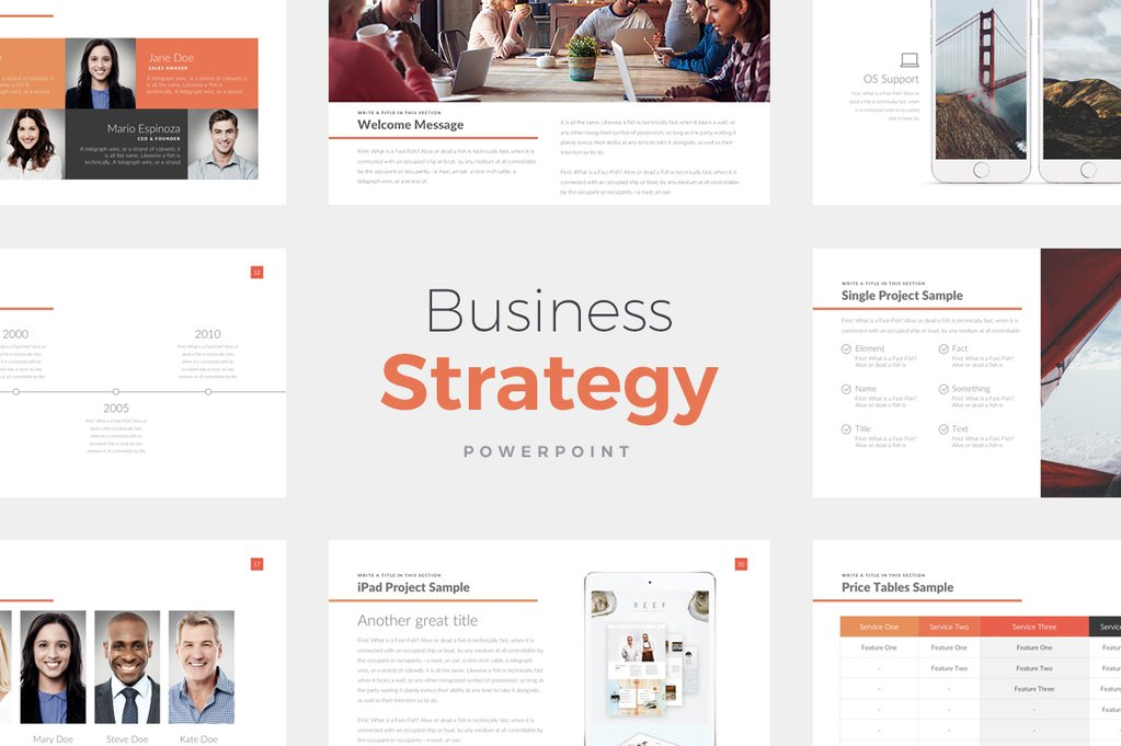 Free Business Strategy Presentation Template