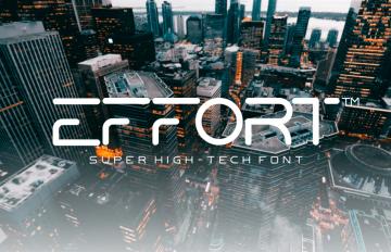 Free Effort High-Tech Font