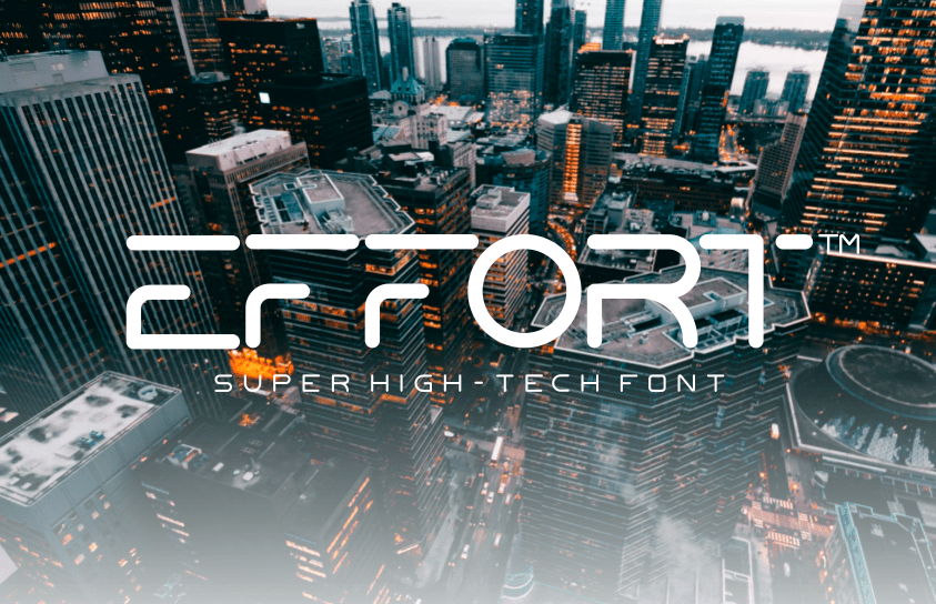 Free Effort High-Tech Font