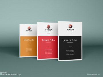 Free Vertical Business Cards Mockups