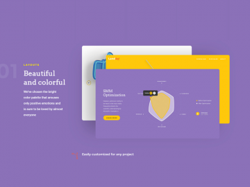 Landing Page UI Kit for Sketch & Photoshop Free Template