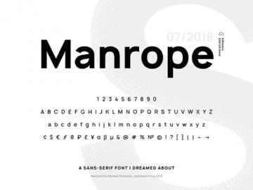 Manrope: A modern, geometric sans-serif Free typeface