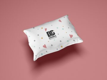 Pillow For Textile Branding Free Mockup