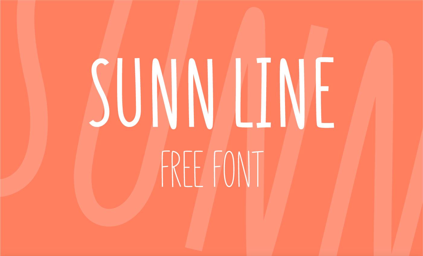 SUNN Line - Free Font