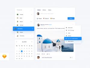 Social Network Concept Free Sketch UI