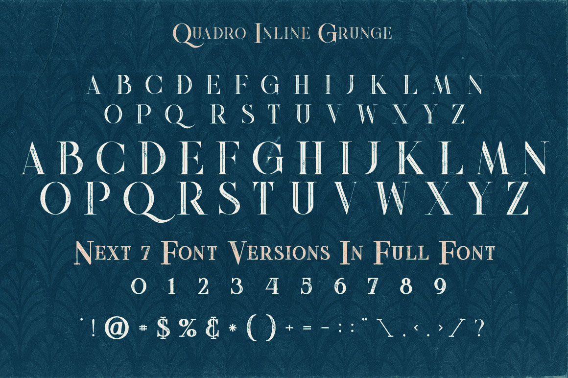 Vintage Quadro Inline Grunge Freebie Font