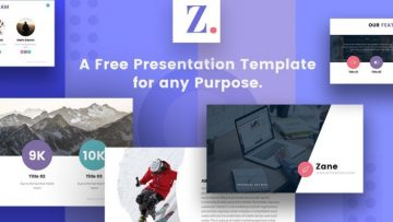 Zane Presentation Freebie Template