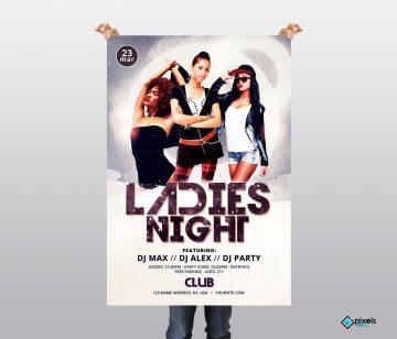 Ladies Night Freebie PSD Flyer Template