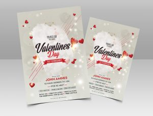 Free Valentine's Day PSD Flyer Template