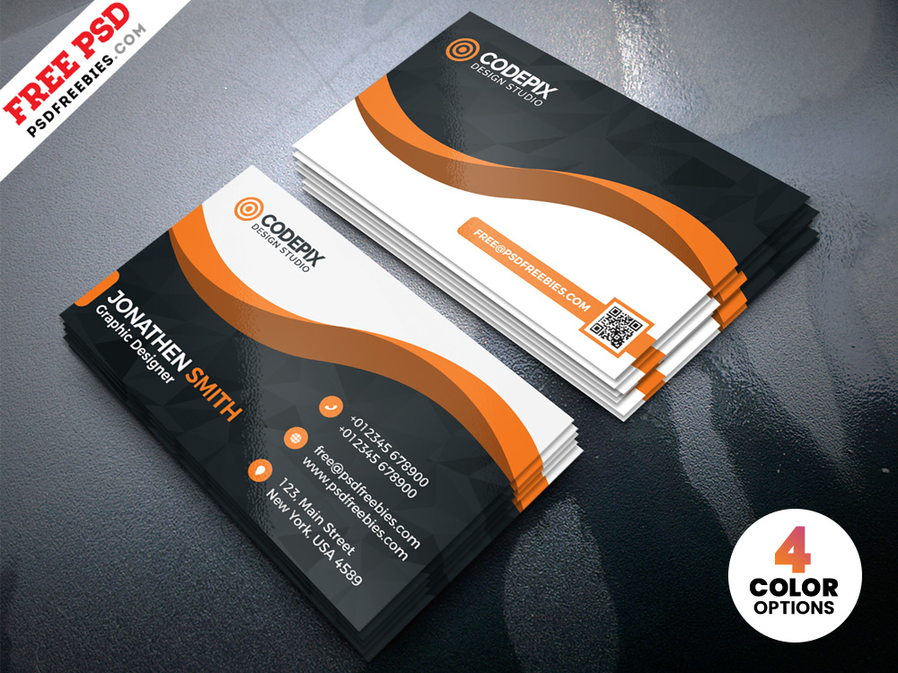 Free Modern Business Card Designs Template PSD
