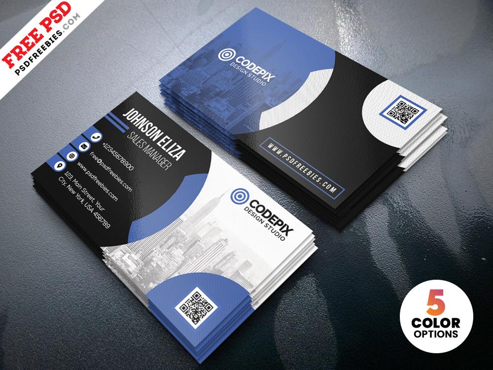 Free Modern Corporate Business Card Design PSD